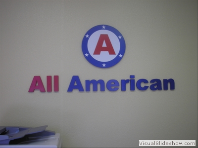 3 dimensional logo and lettering made from pvc foam.