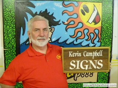 kevin campbell signs sandblasted redwood